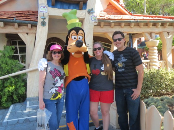 Goofy in front of his kooky house!
