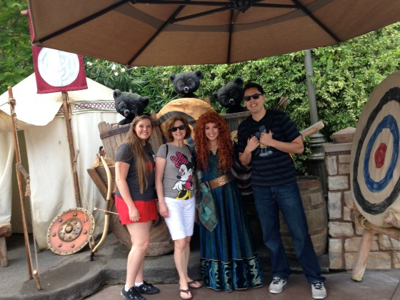 "We ran into Princess Merida outside of ""it's a small world!"""