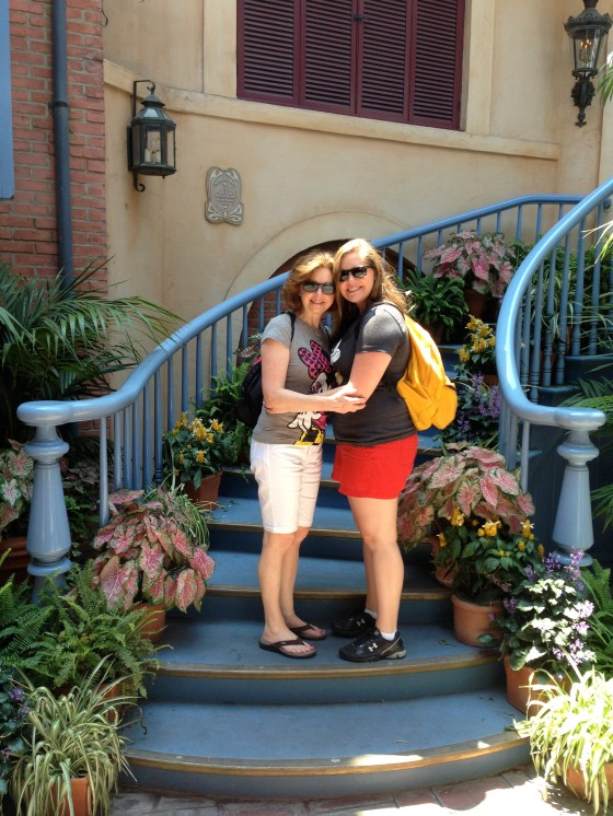 With mom in the Court of Angels in New Orleans Square!