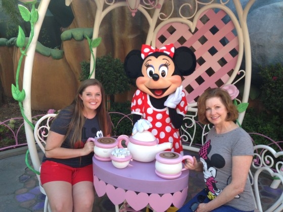 Mom let me join her and Minnie for tea!