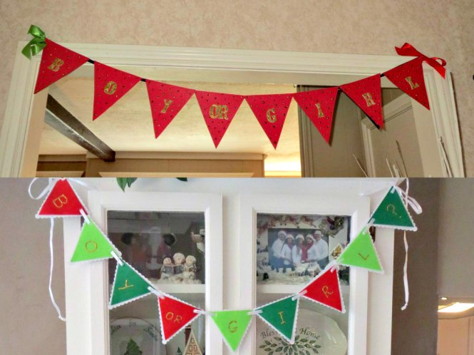 4 Christmas Gender Reveal Banners