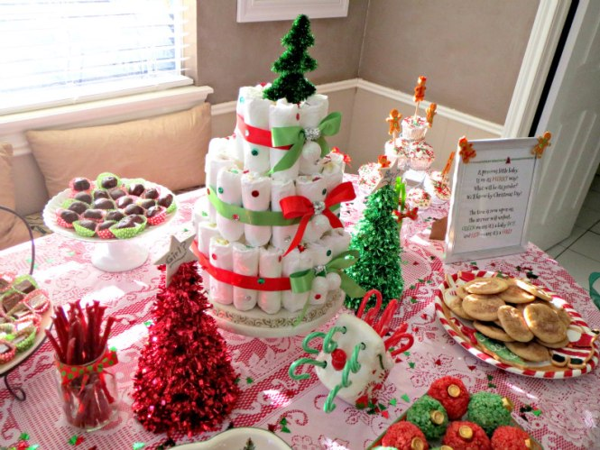 5 Christmas Gender Reveal Table and Food