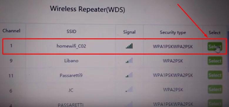 Imagem mostra as redes wifi disponíveis