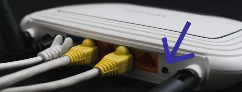 192.168.o.1 - Imagem que mostra o botão de Reset do Roteador (192.168.o.0.1 admin login)