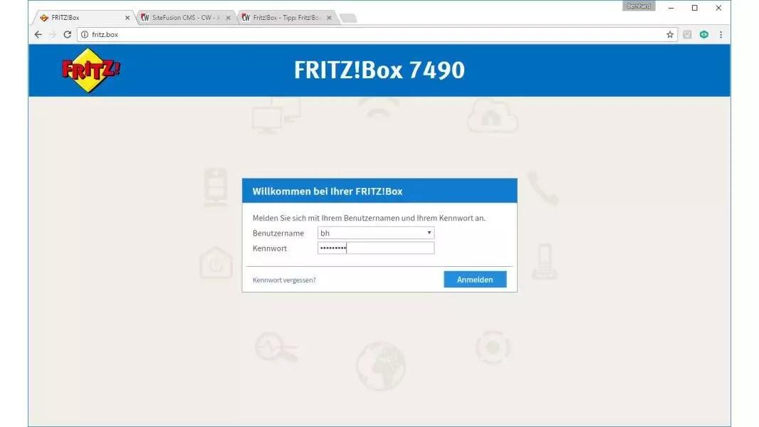 FRITZ!box 7490 Login