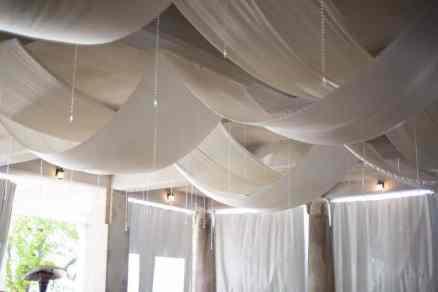 White Satin Fabric: Basketweave, Crystal Strands