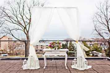 Fabric Draped Arch