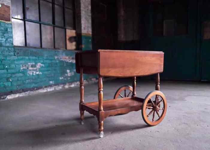 """The Ruby"" Wood Tea Cart"