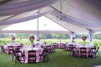 5 Panels White Satin Fabric, 3 Large Brass Chandeliers, 2 Small Brass Chandeliers, 12 Strands of Twinkle Lights