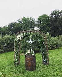Small Crystal Chandelier for Ceremony Arch