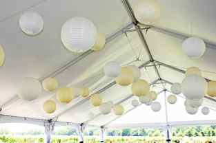 35 Paper Lanterns (white, yellow)