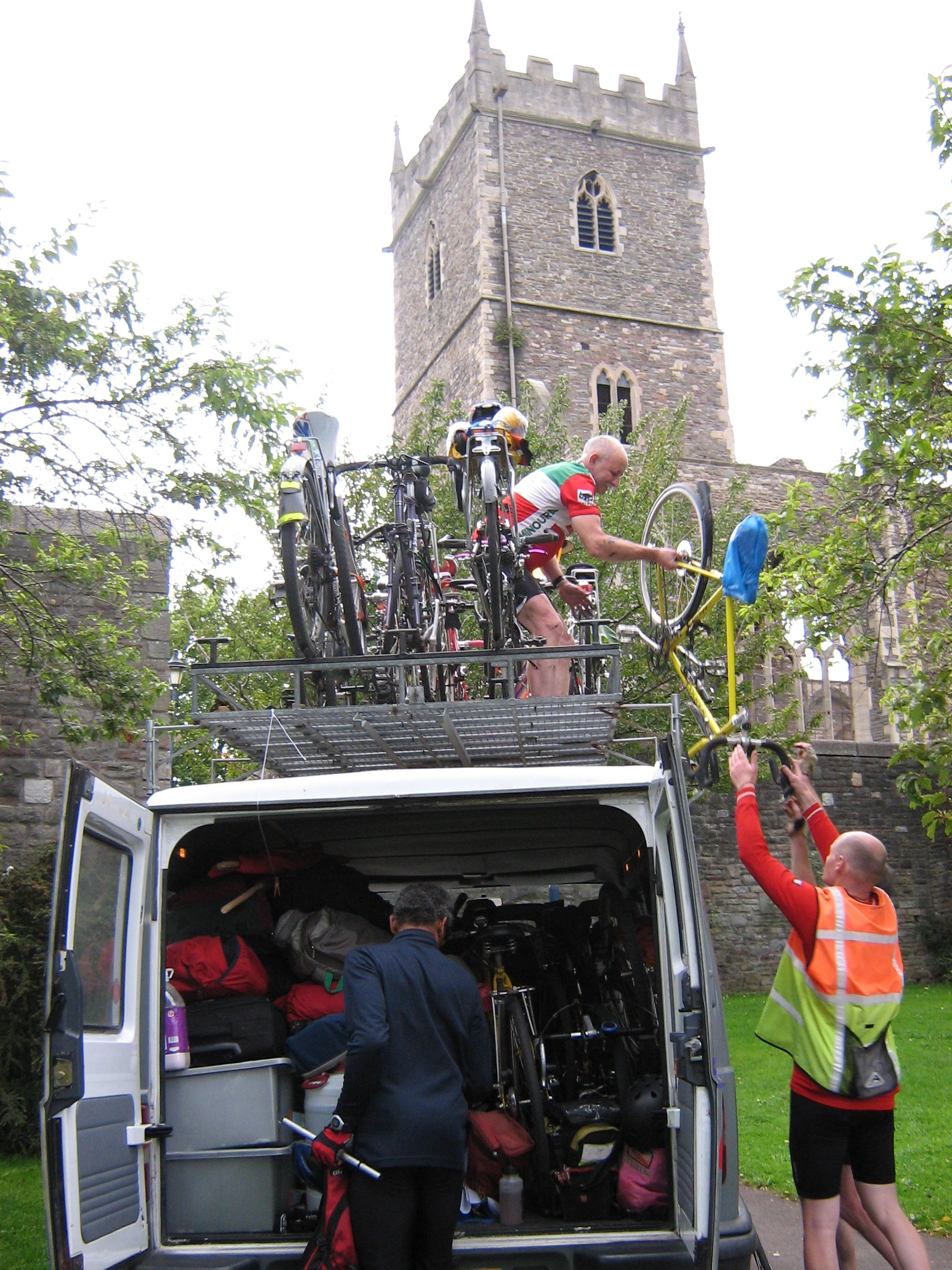 Charles and Chris load up the van