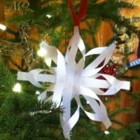 Homemade Christmas decorations- tree stars