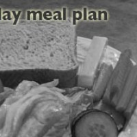 A typical two day meal plan...