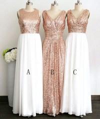 Long Bridesmaid Dress, Mismatched Bridesmaid Dress, Sequin ...