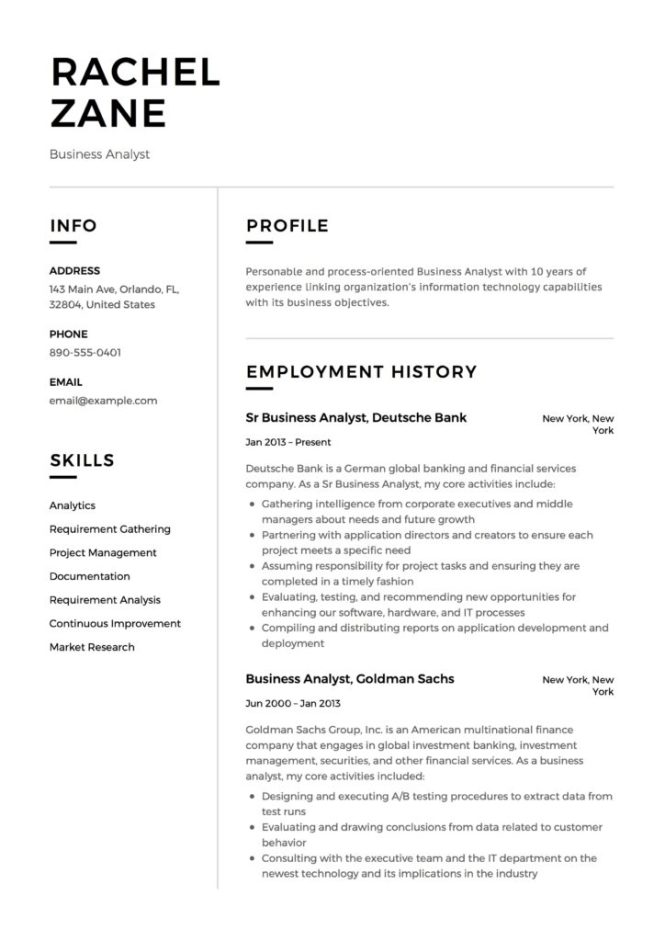 Business Yst Resume Guide 12