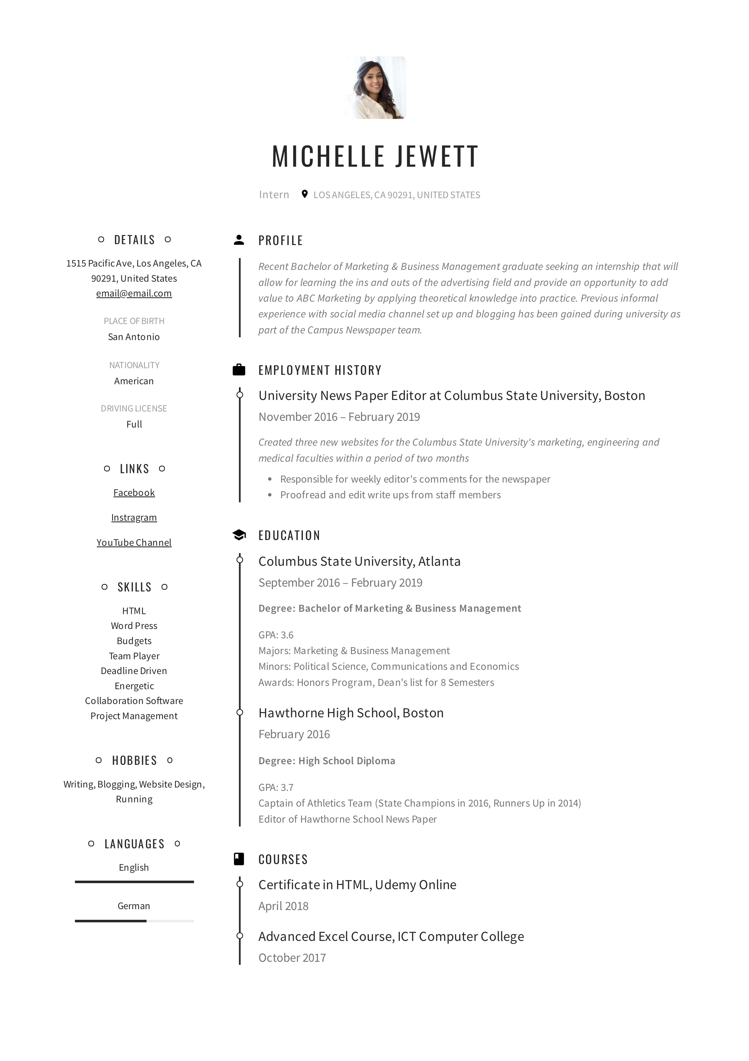 email resume subject
