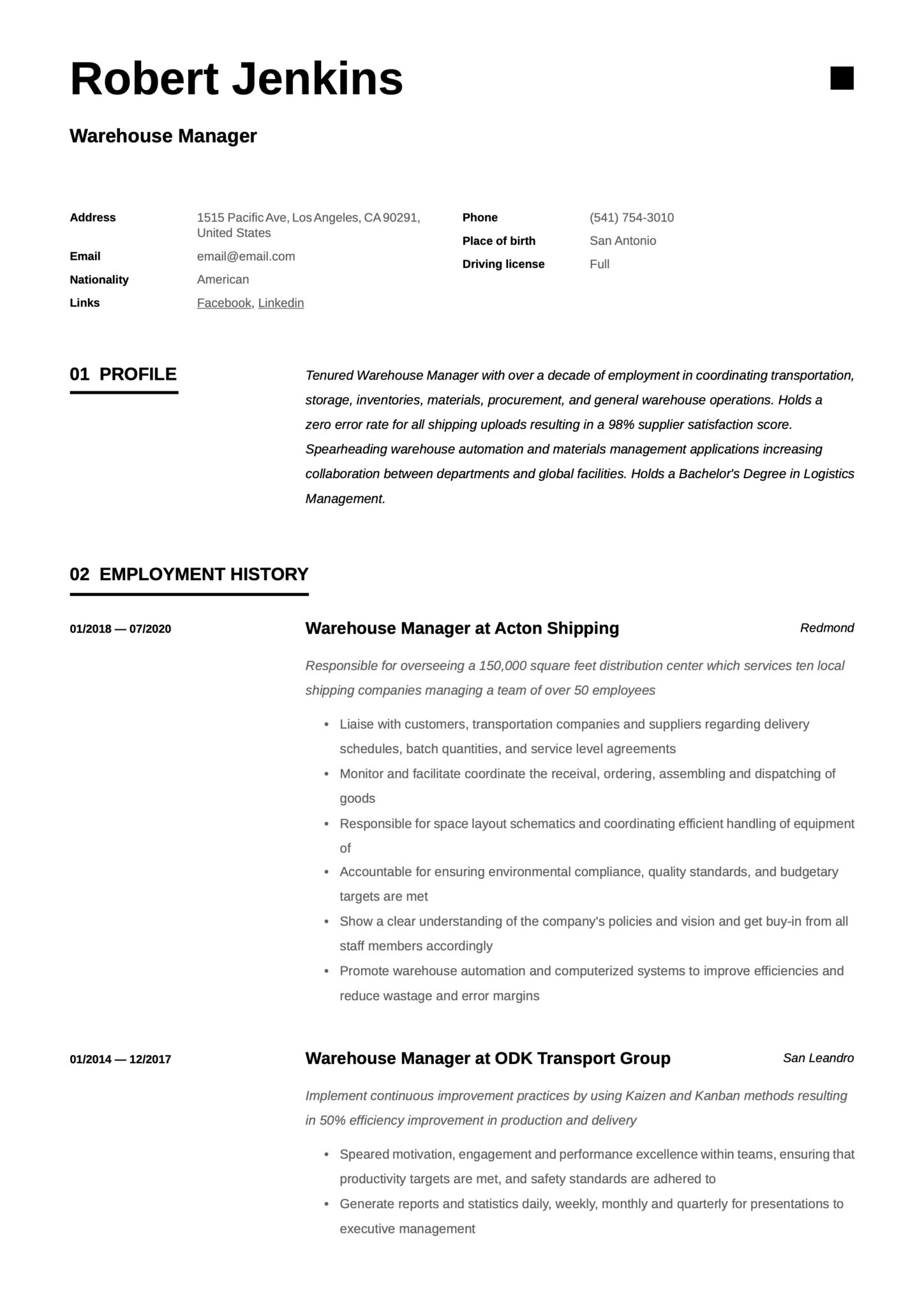 What skills should you consider for a warehouse manager resume? Warehouse Manager Resume Writing Guide 18 Templates