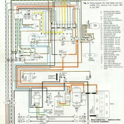 Vw Wiring Diagram Alternator Wall Light Switch Uk 3966 And 3967 Beetle 1967