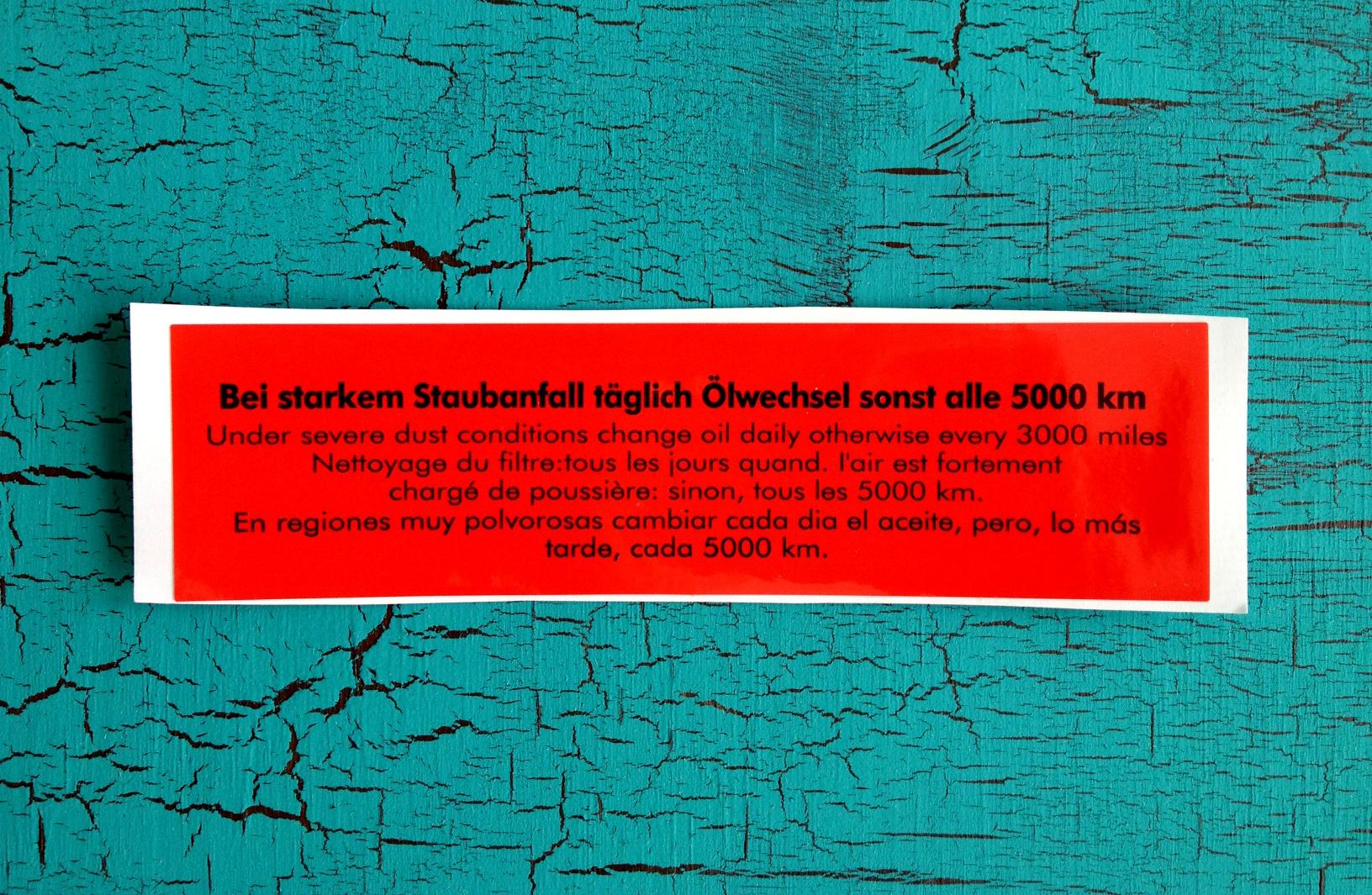 Big Oil Bath Air Cleaner : For sale — oil bath air cleaner decals vw beetle