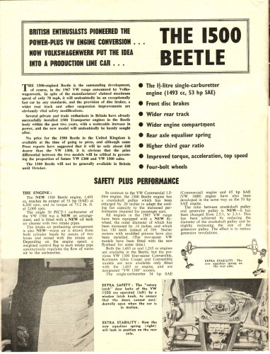 '67 Volkswagen Beetle — Safer Motoring