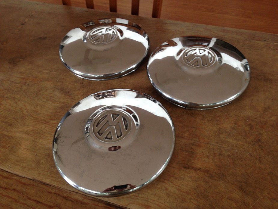 FOR SALE — German '67 Beetle Hubcaps