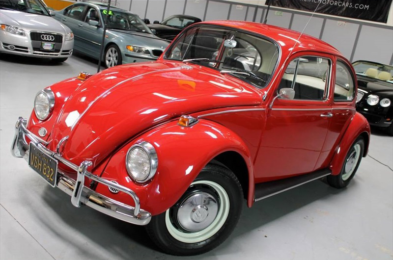 sold l456 ruby red 67 beetle 1967 vw beetle. Black Bedroom Furniture Sets. Home Design Ideas