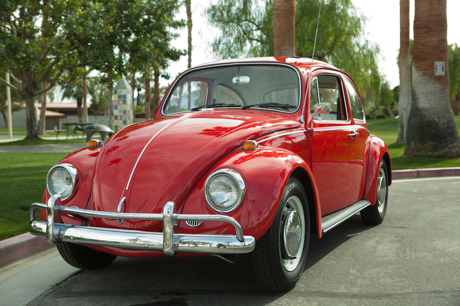 Sold L456 Ruby Red 67 Beetle 1967 Vw Beetle