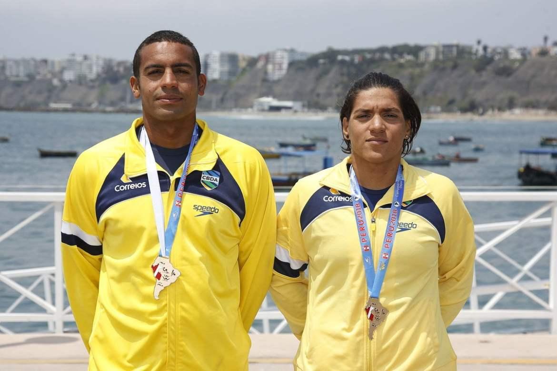 Ana Marcela Cunha y allan Don Carmo ganan los 5Km de Aguas AbiertasSudamericano 2018