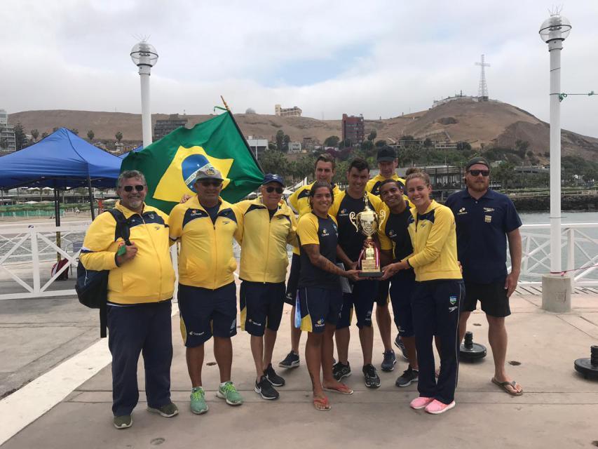 Brasil Campeon Aguas Abiertas Sudamericano 2018