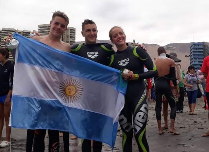 Argentina dominó inicio sudamericano juvenil aguas abiertas