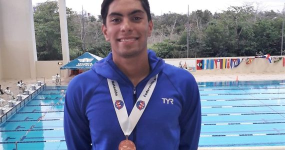 Luis Ramirez medalla de bronce Puerto Rico International Swimming Open 2019