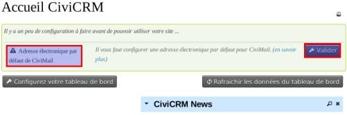 CiviCRM Param Accueil CiviMail