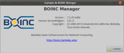 A propos de BOINC Manager