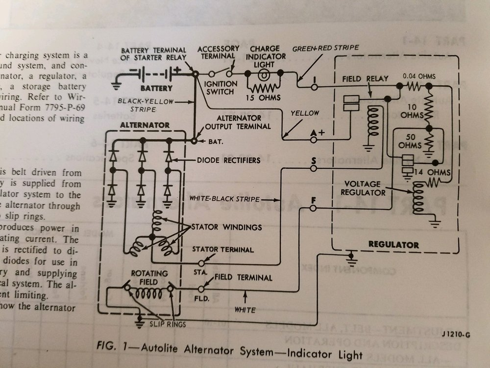 1969 Mustang Underhood Charging Wire Diagram