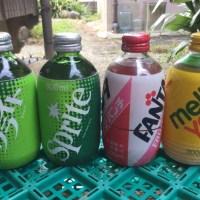 1980年代「ダルマ型ジュース瓶」缶ジュースとペットボトルの間をつないだ丸っこいジュース瓶