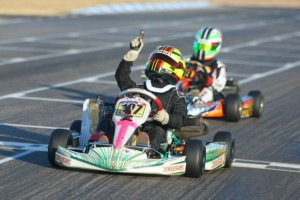 Sting Ray Robb came through with the victory in Mini Max(Photo: Sean Buur - Go Racing Magazine)