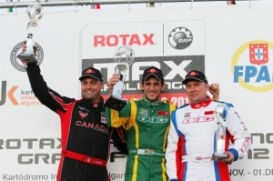 Canadian and former world champ Scott Campbell (l) and 2012 Rotax Grand Finals champ Cristiano Morgado (c) will compete in DD2 Masters(Photo: Florida Winter Tour)
