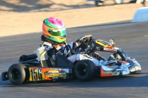 Horatio Fitz-Simon went from last to first in the Mini Max Final for the victory(Photo: Sean Buur - Go Racing Magazine)