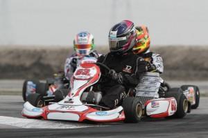 Travis Lowe aboard his new ART GP kart for 2013