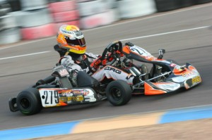 Austin Versteeg remains in the Junior Rotax title chase at the Challenge of the Americas (Photo: Sean Buur - Go Racing Magazine)