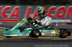 American Dalton Sargent flew his way to eighth in KF from the back (Photo: Tony Kart - FormulaK)