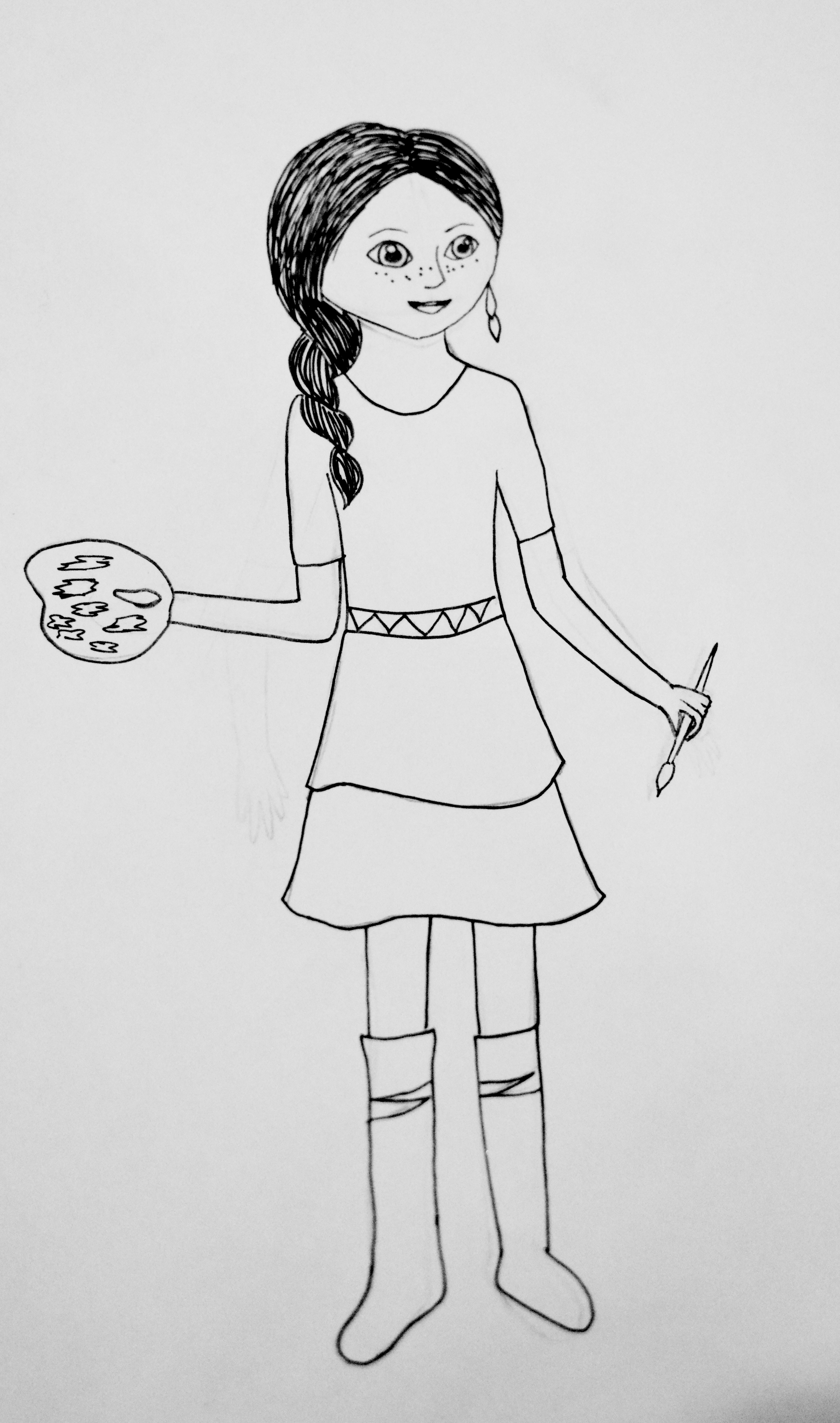 American Girl Isabelle Doll coloring page | Free Printable ... | 4865x2873