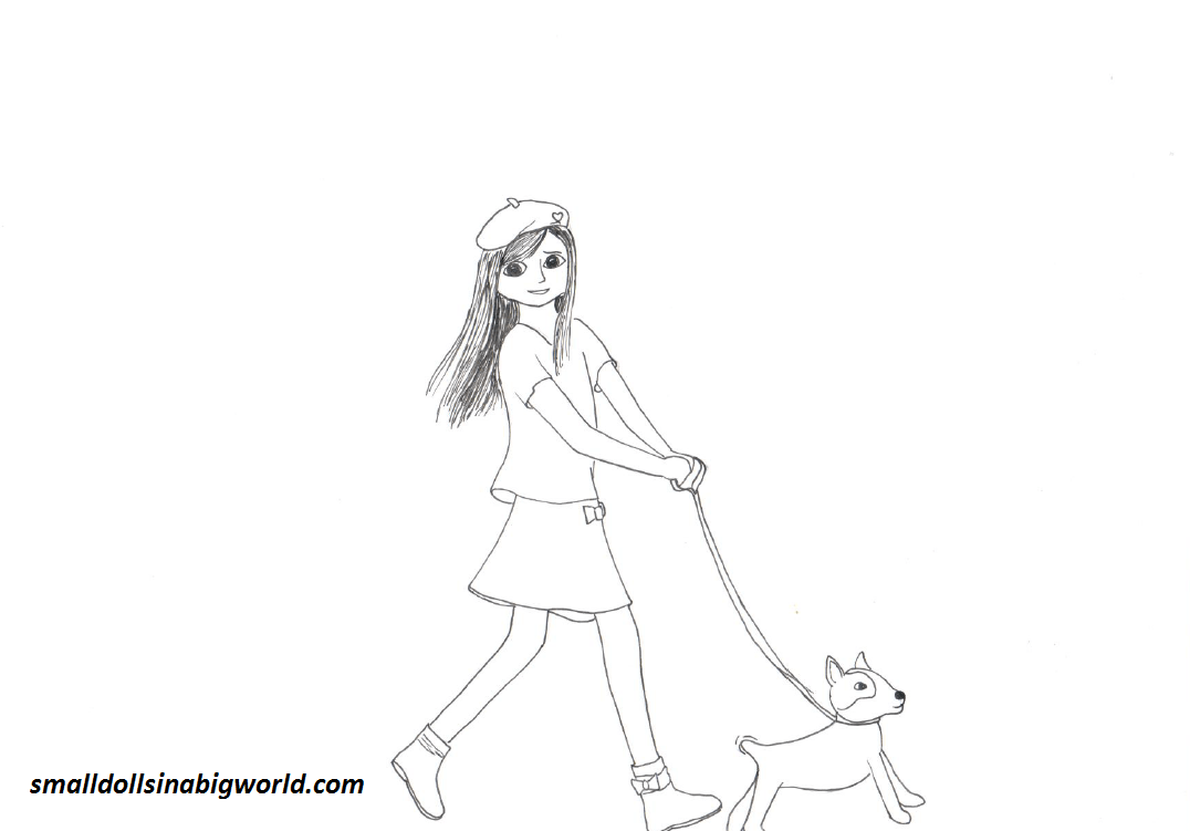 American girl pages to color - American Girl Grace Coloring Pages