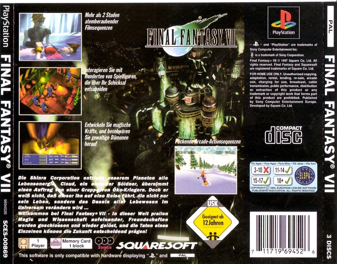 Final Fantasy VII G Disc 1 ISO