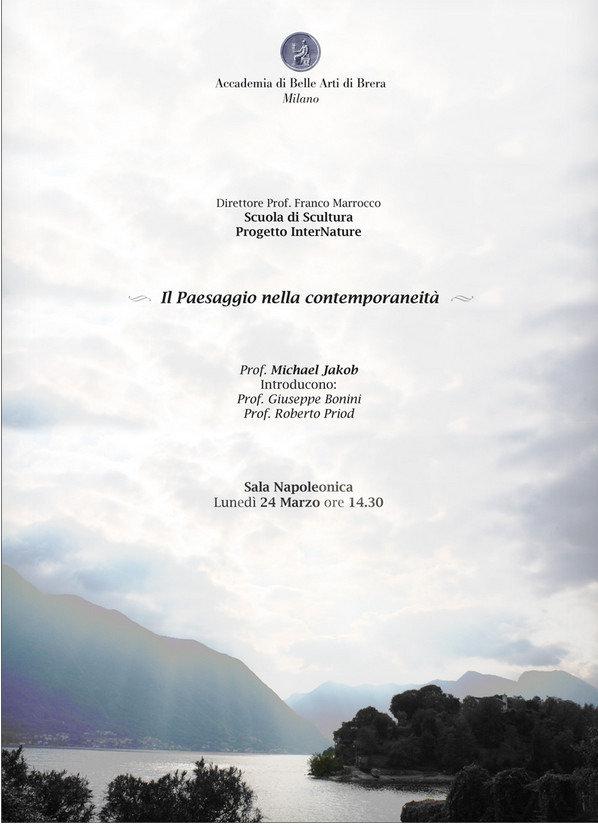 Il concetto di paesaggio nella contemporaneita Accademia di Belle Arti di Brera Milano