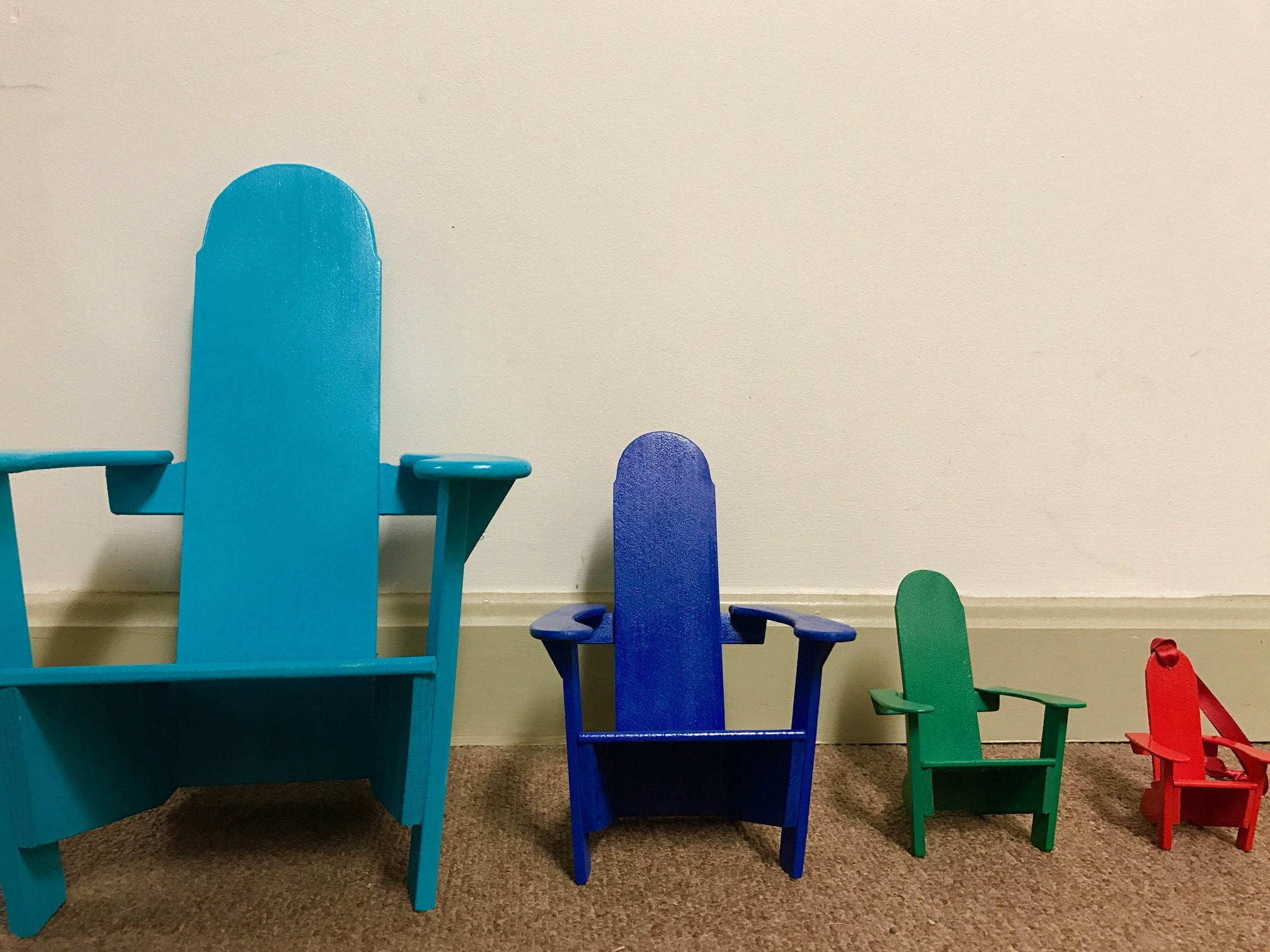 Teal Adirondack Chairs Gift Shop Lake Champlain Resort Basin Harbor Club