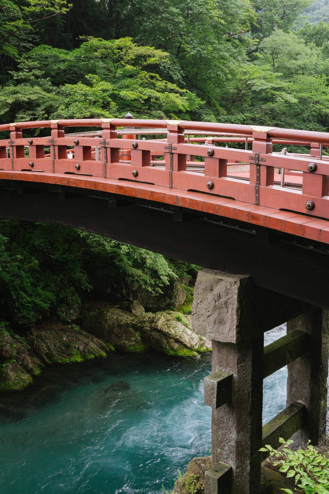 Shinkyo bridge up close.