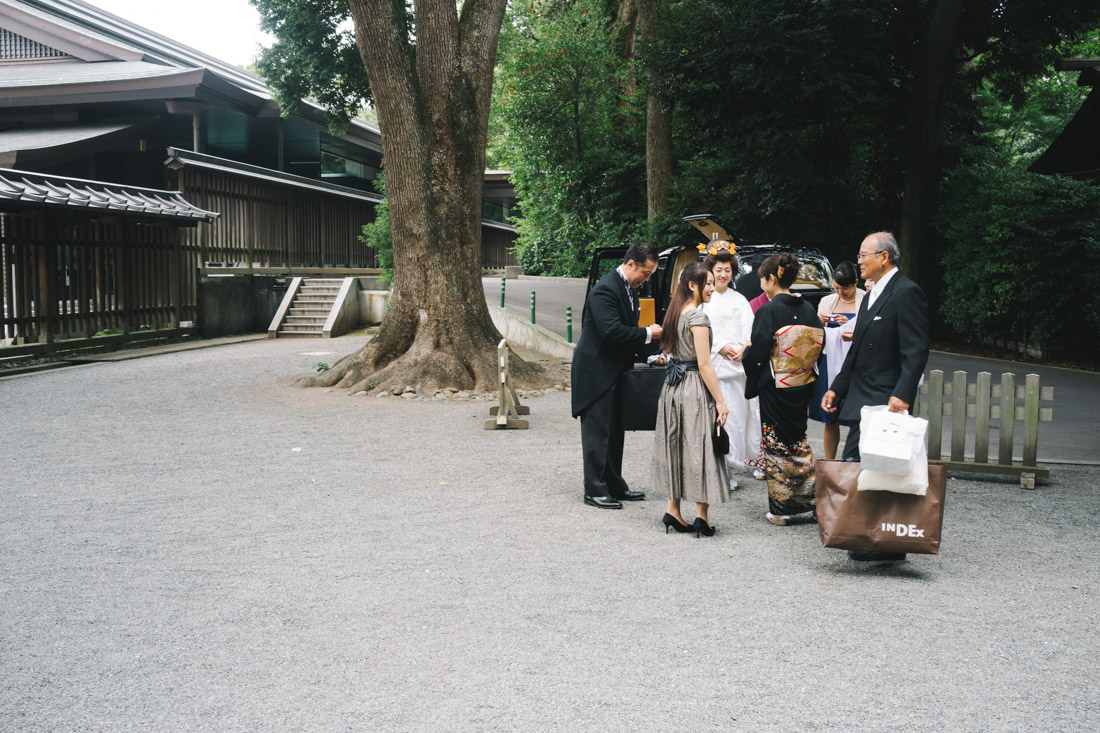 And a second wedding was on already in preparation; quite a busy day for the Meiji shrine priests.