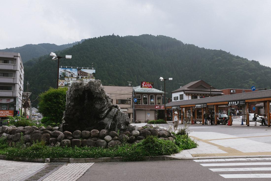 Main square in Nikko.